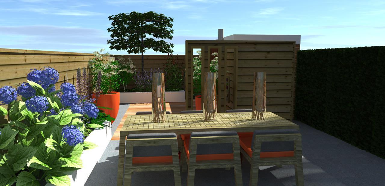 Kleine tuin in moderne sfeer hoveniersbedrijf den haag for Hovenier den haag