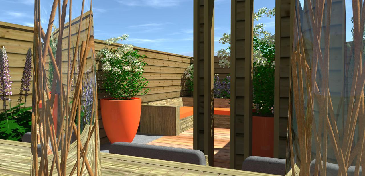 Kleine tuin in moderne sfeer hoveniersbedrijf den haag for Tuinontwerp westland